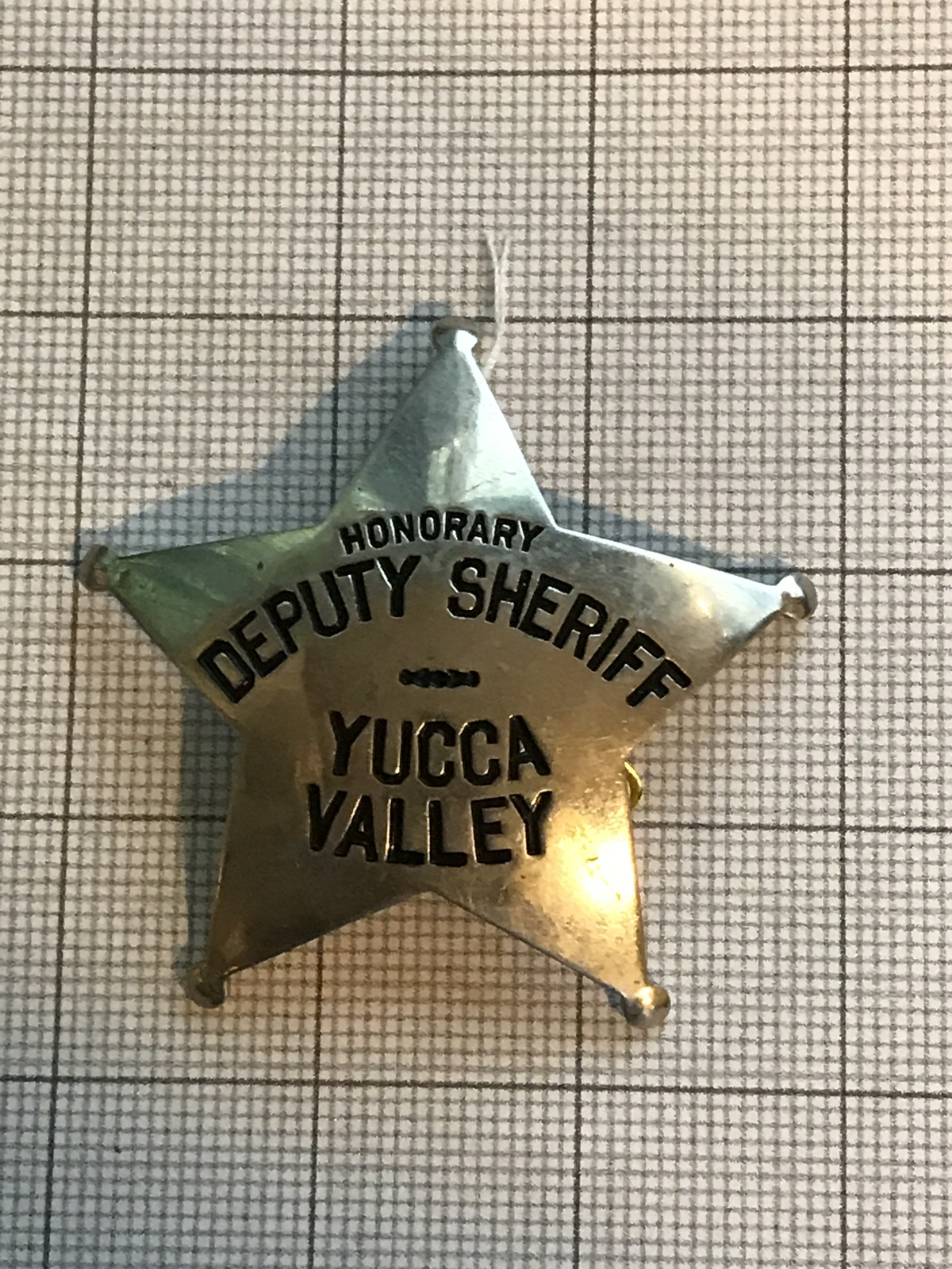 Primary image for Yucca Valley California Obsolete Police Deputy Sheriff Badge Honorary
