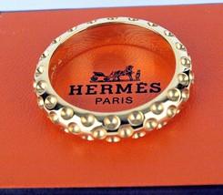 Authentic Hermes Paris * Ex Large * Simple Design Scarf Ring In Box - $246.51