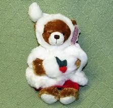 """PLUSHLAND CHRISTMAS TEDDY BEAR PLUSH BEANBAG STUFFED ANIMAL 8"""" WITH TAG ... - $11.88"""