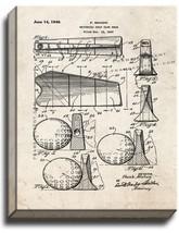 Universal Golf Club Head Patent Print Old Look on Canvas - $39.95+