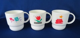 Tupperware Coffee Mugs, Stacking, 1 In a Million, Mom & Grandma #2224, 10 oz.  - $16.00