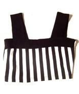 Casino Black and White Striped Crop Top Piano Keys Prison Stripes Crop T... - $23.74