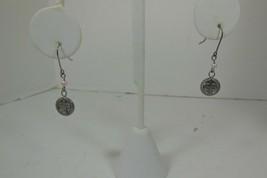 Vintage Sterling Silver Cross Earrings w/ Pearl French Hook - $11.87