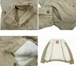 Levi's Men's Classic Corduroy Sherpa Trucker Button Up Jacket 723360004 image 3