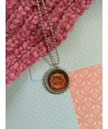 Fire Fighter Bottle Cap Necklace - $3.60