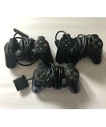 Lot Of 3 Authentic Sony Playstation 2 PS2 Controllers BROKEN As Is For P... - $15.40