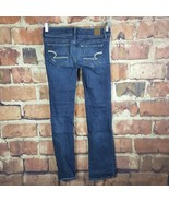 American Eagle Slim Boot Jeans Womens Size 2 Distressed Stretch - $14.85