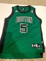 Adidas NBA Boston Celtics Kevin Garnett #5 Jersey Size M(10-12) +2 Length - $14.99