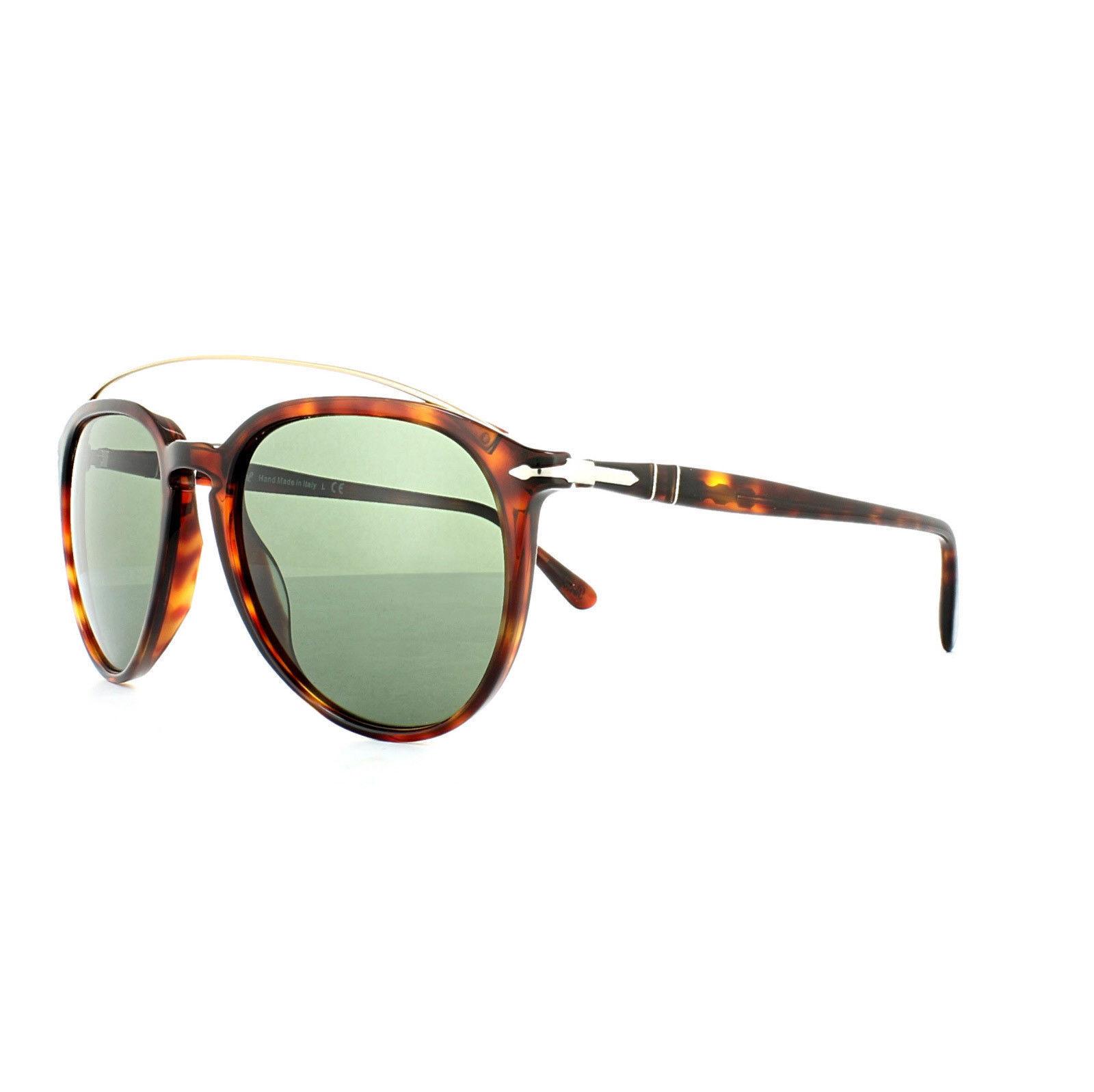 42c3ecad8e348 Persol Sunglasses PO3159 9015 31 55MM Havana Frame Green Lens -  138.59