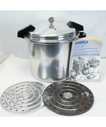 Mirro Matic 22 QT Pressure Cooker Canner 2 Racks M-0522 with Booklet - $176.40