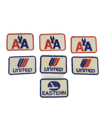 7 Vintage Airline Embroidered Applique Patches American United Eastern A... - $21.99