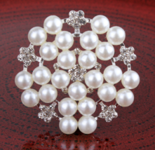10pcs Pearl Alloy Rhinestone Buttons,Wedding Party Favor,Sewing Clothe B... - $19.70