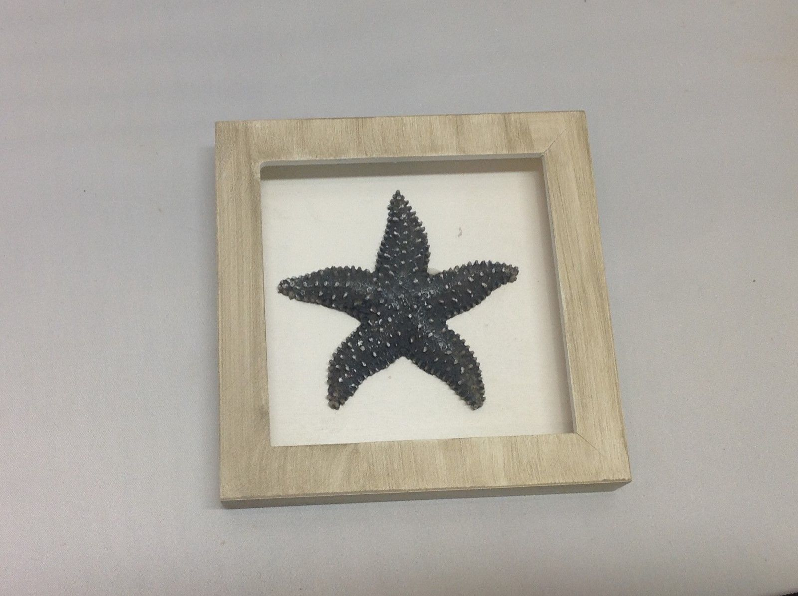 NEW Tan and Black Resin Starfish Shadow Boxes