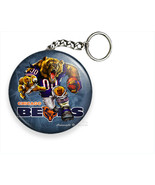 ANGRY RUNNING CHICAGO BEARS FOOTBALL TEAM KEYCHAIN KEY FOB RING CHAIN GI... - $11.49+