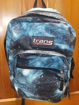 Trans by Jansport Galaxy Outer Space Stars Solar System Backpack Blue Black - $14.03