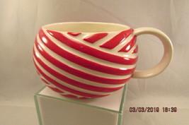 Starbucks Red and White Stripe Peppermint Coffee Mug Christmas 12 oz 2013 - $12.19