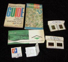 1964 New York World's Fair Lot Photo Slides Magnifying Glass Map Guide - $32.99