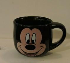 Mickey Mouse Coffee Mug Black Walt Disney Store Ceramic Large Cup - $9.85