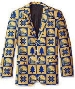 NBA Golden State Warriors Men's Patches Ugly Business Jacket, Size 50/XX... - $24.95