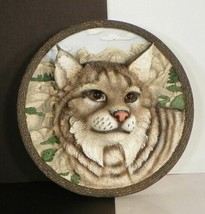 Bradford Exchange BOBCAT Faces of the Wild Plate 3-D 4th Issue 1995 - $18.76