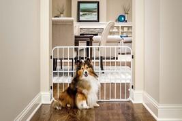 Gate for Dog Lock Door Indoor Free Standing Dogs Pet Cat Wide Pressure H... - $41.11