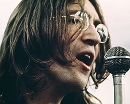 John Lennon Iconic In Rim Glasses Singing Into Mike 1969 Beatles 16X20 C... - $69.99
