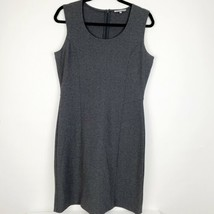 Anne Klein Womens Stretch Gray Career Workwear Dress Sleeveless Sheath M... - $31.42