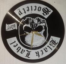 VINYL PLANET Wall Clock BLACK LEBEL SOCIETY Home Record Unique Decor upc... - $26.93
