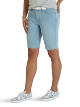 Lee Riders Women's Belted Bermuda Shorts Denim Jeans Falling Star Pocket... - $9.75