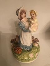 Vintage Schmid Mother and Child Figurine Music Box - $47.99