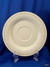 "Lenox For the Grey Saucer Cream Chinastone Gray Ring 6-3/8"" - $9.90"