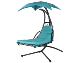 Hanging Chaise Lounger Chair Arc Stand Air Porc... - $289.99