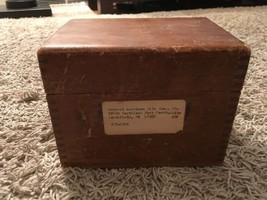 "Vintage Recipe Wooden Box, 7""x6.75""x5"" - $36.99"