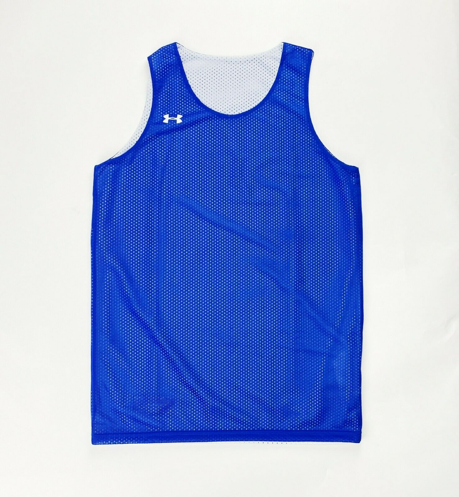 Primary image for Under Armour Reversible Basketball Jersey Youth Unisex Boy Girl L XL Blue White