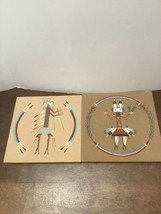 Native American Sand Paintings Lot Of 2 Sun Rise Dancer Yu-Be-Chai Sands... - $30.00