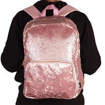 Style.Lab Fashion Angels Backpack-Pink Glitter/Velvet Pocket Magic Sequin Back P image 6