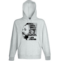 Martin Luther King Injustes- NEW COTTON GREY HOODIE - $31.88