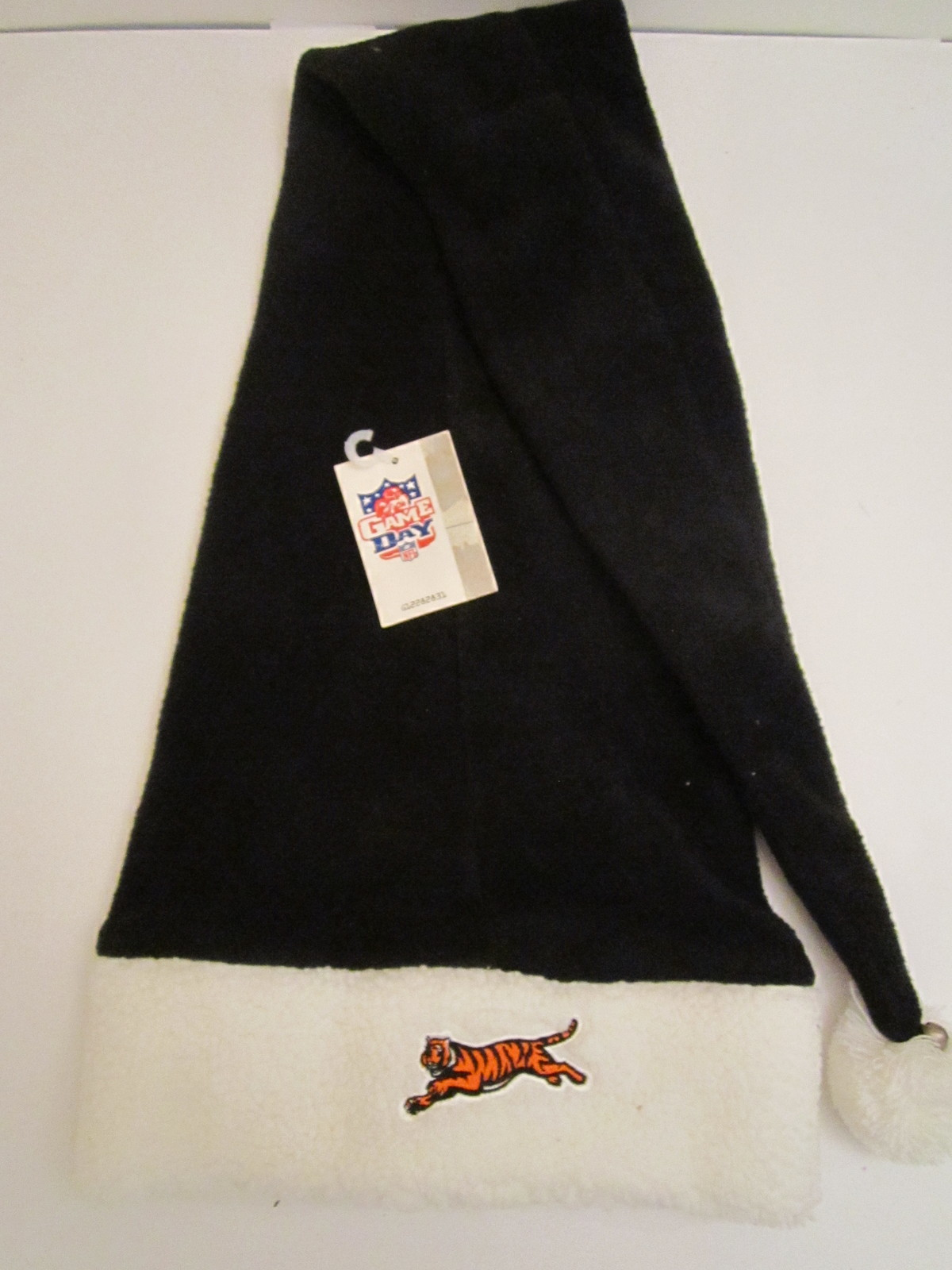 Primary image for Vintage NFL Cincinnati Bengals Cuffed Fleece Stocking Cap w/Bell (New) by DPM