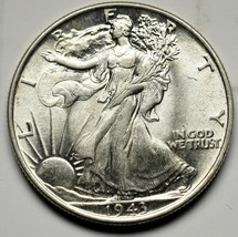 1943 Walking Liberty Half Dollar 90% Silver Coin Lot# A 232 - $55.50