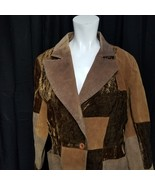 Brandon Thomas Women's Patchwork 100% Suede Leather Jacket Brown Size M ... - $96.70