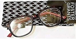 +1.25 Foster Grant Ashlyn Dark Red Women's Reading Glasses w Case Spg Hg MSRP$22 - $14.69