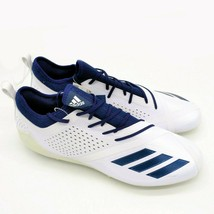 Adidas Mens Adizero Football Cleats Sz 16 White With Navy Stripes New - $41.08