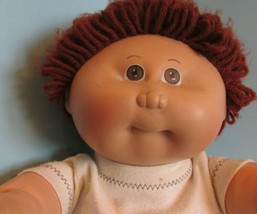 "Cabbage Patch Kids 16"", Xavier Roberts baby doll brown yarn hair brown eyes '84 - $24.75"