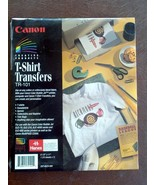 Cannon Creative Products T-Shirt Transfers TR-101 10 Sheets 8.5 x 11 NIP... - $6.78