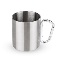 Copper Mugs, Carabiner Chrome Travel Coffee Stainless Steel Mule Mug - $20.39