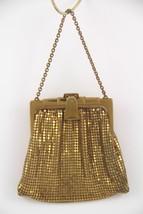 Early Art Deco Whiting & Davis Gold Mesh Evening Bag Purse - $33.95