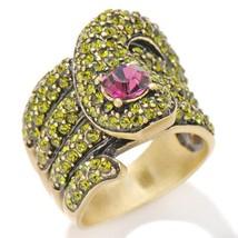 Heidi Daus Serpent Snake Green Crystal Ring - $66.00+