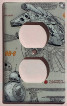 Star Wars Millennium Falcon BB8 BB-8 Switch Outlet wall Cover Plate Home Decor image 3