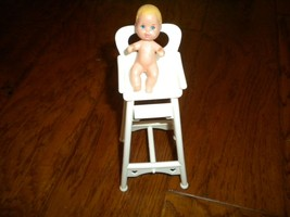 "Vintage 1973 Barbie 3"" Baby Doll with HighChair - $14.85"