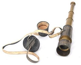 """MARINE 18"""" ANTIQUE TELESCOPE WITH LEATHER COVER BY NAUTICALMART - $38.22"""